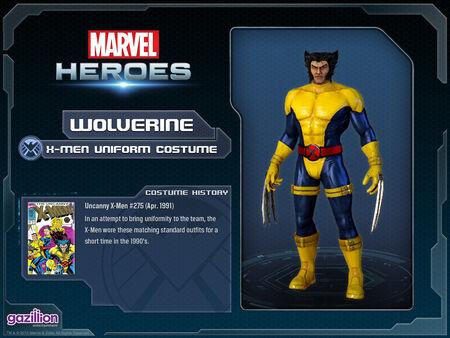 Costume wolverine xmenuniform