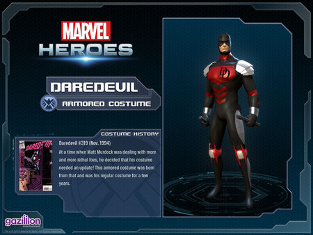 Costume daredevil armored