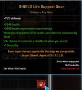 SHIELD Life Support Gear