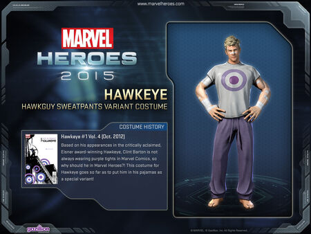 Costume hawkeye sweats variant