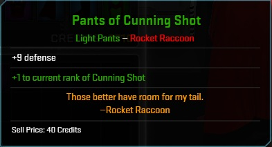 Equipment-Pants-Pants of Cunning Shot (Rocket Raccoon 9)