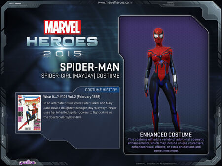 Costume spiderman spidergirl