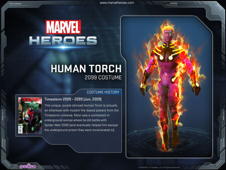 Costume humantorch 2099