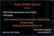 Super-Soldier Serum Descr