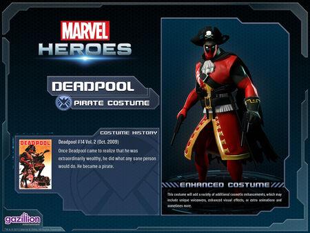 Costume deadpool pirate