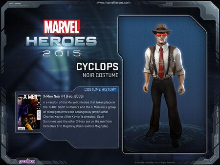 Costume cyclops noir