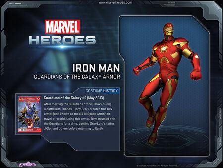12x9 CostumePage Ironman GotG red