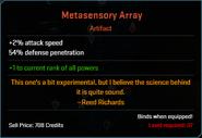 Metasensory Array Descr