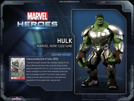 Costume hulk marvelNOW
