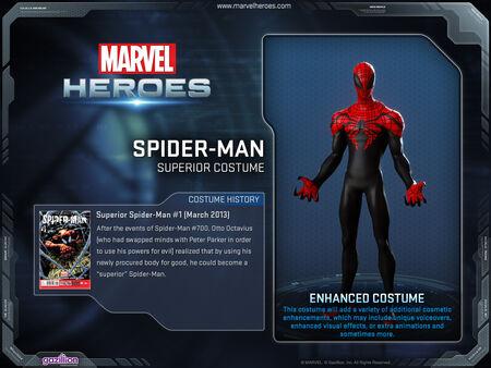 Costume spiderman superior