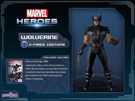 Costume wolverine xforce