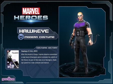 Costume hawkeye modern