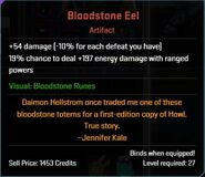 Bloodstone Eel Descr