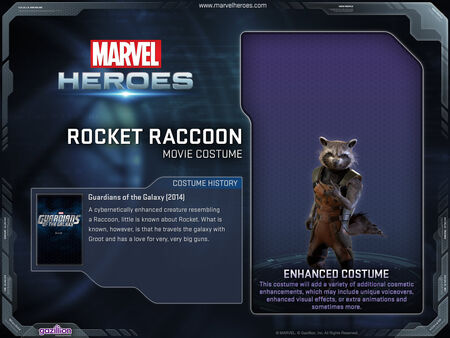 12x9 CostumePage RocketRaccoon GotGmovie