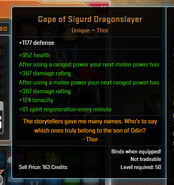 Cape of Sigurd Dragonslayer