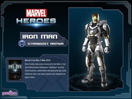 Costume ironman starboost