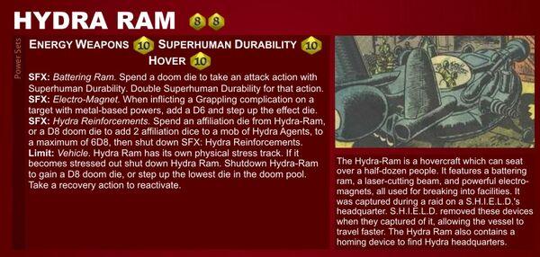 Marvel Heroic Roleplaying - Item Datafile Hydra Ram