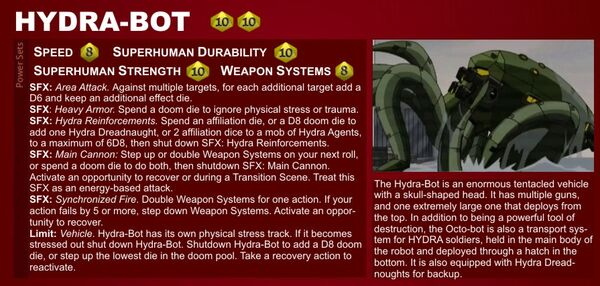 Marvel Heroic Roleplaying - Item Datafile Hydra-Bot