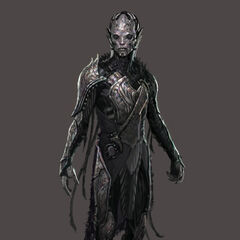 Concept art of a Dark Elf from <i>Thor: The Dark World</i>.
