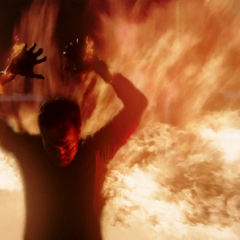 Chan Ho Yin shields himself with fire