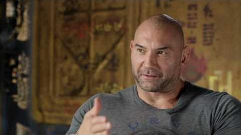 """Guardians of the Galaxy Vol. 2 Dave Bautista """"Drax"""" Behind the Scenes Movie Interview"""