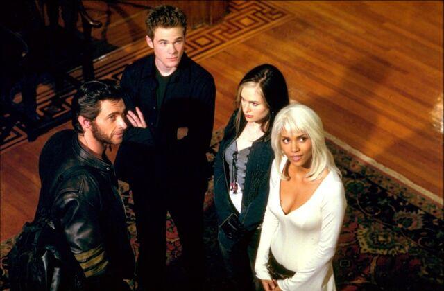 File:Storm, Rogue, Iceman, and Logan.jpg