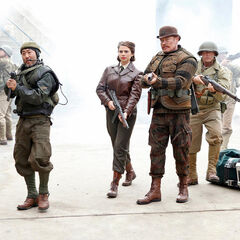 Peggy with Jim Morita and Dum Dum Dugan