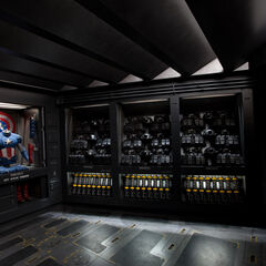 Captain America's costume room.