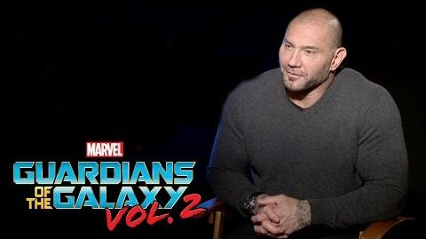 Dave Bautista on Marvel Studios' Guardians of the Galaxy Vol. 2