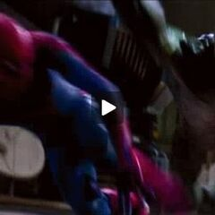The Lizard attacking Spider-Man.
