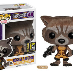 Rocket Raccoon flocked