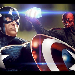 Captain America vs. Red Skull.