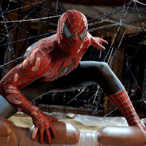 The Spider-Man suit seen in <i>Spider-Man 3</i>.