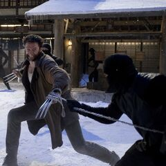 Wolverine battling some ninja