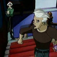 Pietro runs from Rogue.
