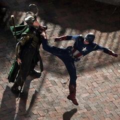 Cap vs Loki.