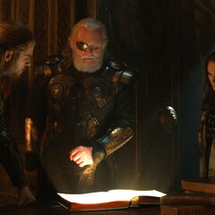 Jane with Odin and Thor in <a href=