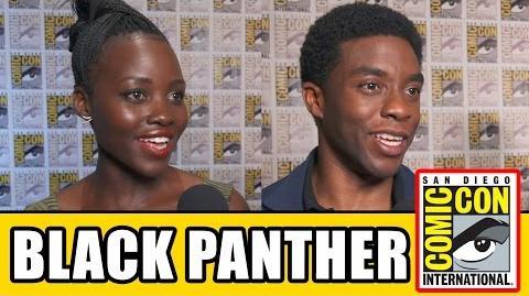 BLACK PANTHER Comic Con Interviews Chadwick Boseman, Lupita Nyong'o, Michael B Jordan, Danai Gurira