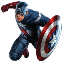 Captain America's Promotional Art.