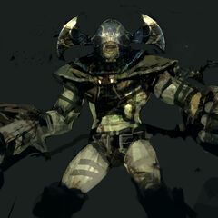 Concept art of a heavy-armed Chitauri.