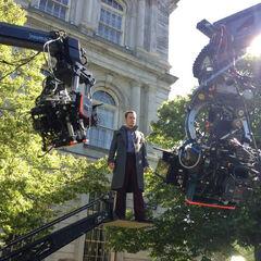 Michael Fassbender filming.