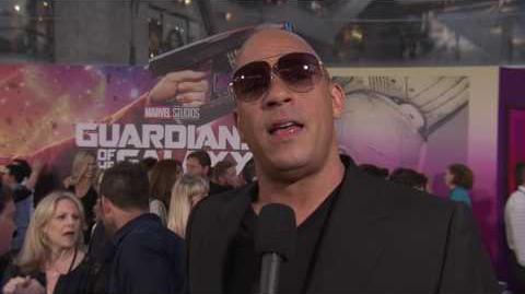 "Guardians of the Galaxy Vol. 2 Vin Diesel ""Baby Groot"" Red Carpet Movie Premiere Interview"