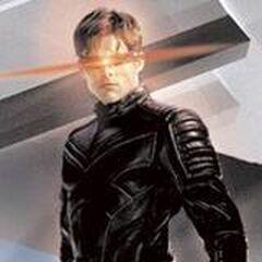 Scott in his X-Men Uniform