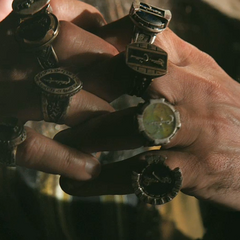The Mandarin's ten rings.