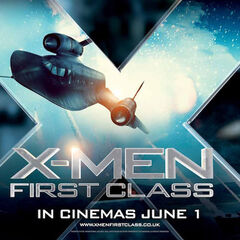 UK promotional banner for <i>X-Men: First Class</i>