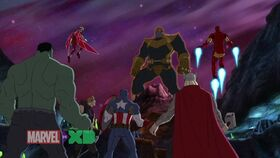 The Avengers and Thanos (Avengers Assemble)