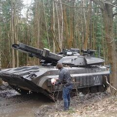 Set photo of a Tank in Hampshire Woods, UK