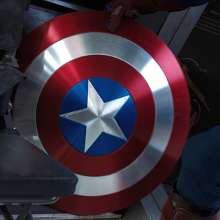 Cap's shield before the Battle of New York.