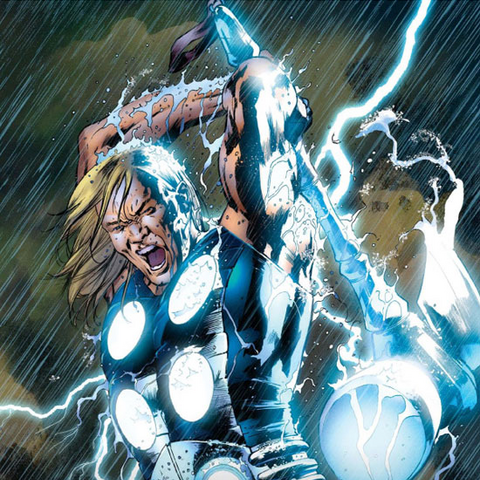 Promotional Poster of Thor for <i>Ultimate Avengers</i>.
