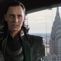 Loki in a skyscraper.